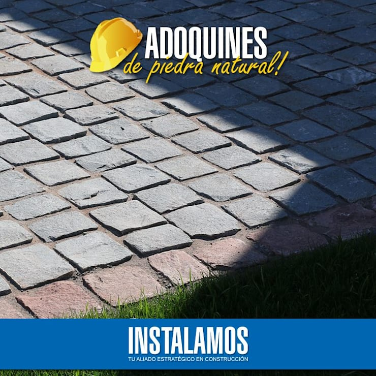 Adoquín piedra natural: Jardines de estilo  por Instalamos.cl