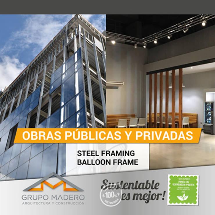 #ObraPública #ObraPrivada #SelloVerde: Estudios y oficinas de estilo  por Grupo Madero,Moderno
