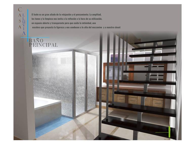 Interior baño ppal. : Baños de estilo  por TALLARQ