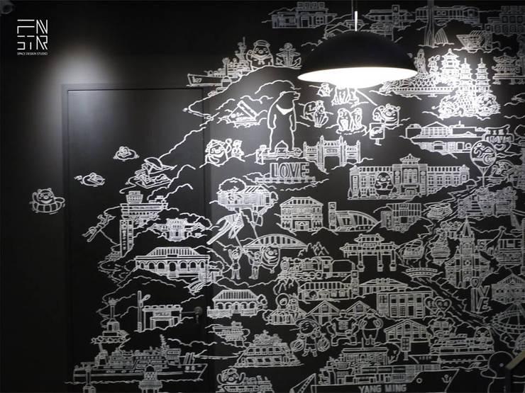 黑色基地:  客廳 by 釩星空間設計