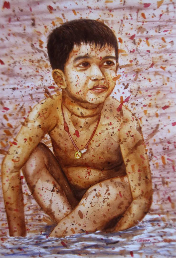 Life of Araku vally_001:  Artwork by Indian Art Ideas