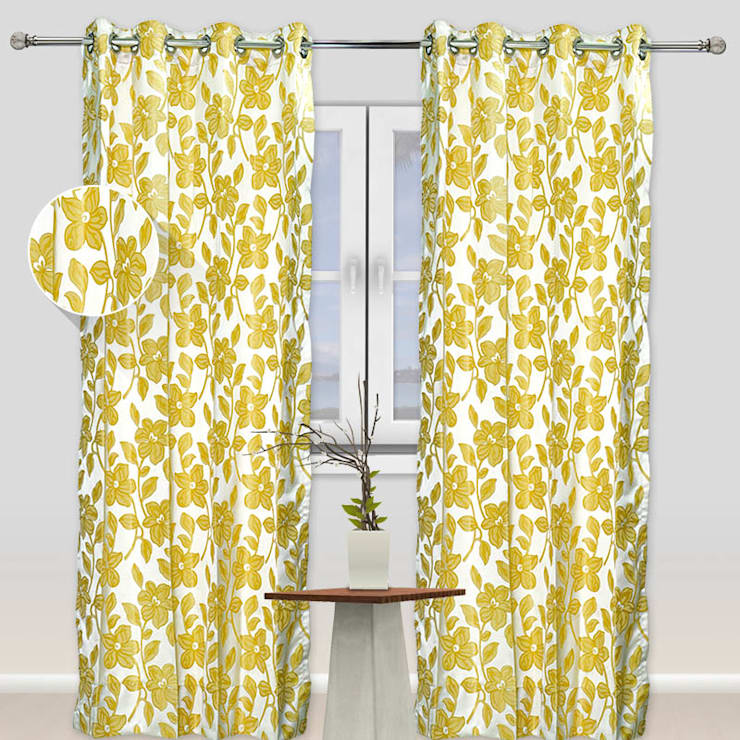 Printed curtains design by RR Inteiors: country  by RR Interiors,Country