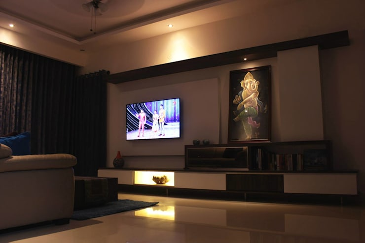 Living Room - TV Unit:  Living room by Soul Ziv Architecture