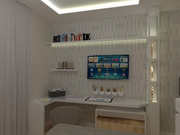 Dormitorios de estilo moderno por AJR ARQUITETURA