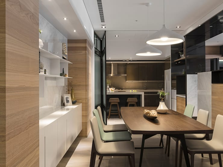 框景 │ 對話:  廚房 by 拾葉 建築室內設計