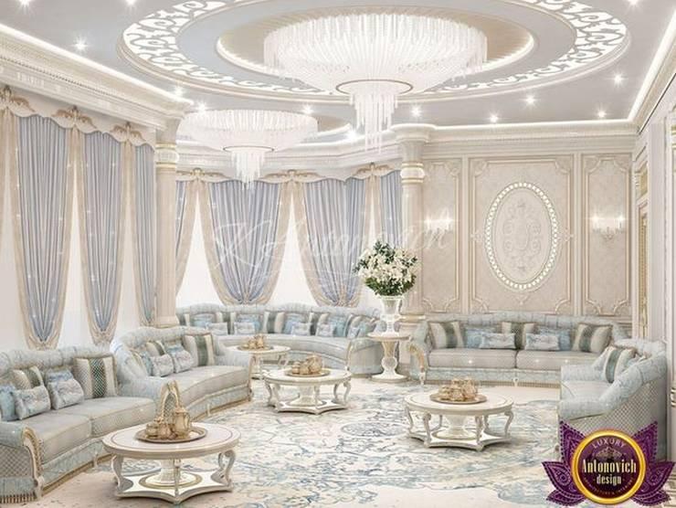 Ambrosial interior design of Katrina Antonovich:  Living room by Luxury Antonovich Design