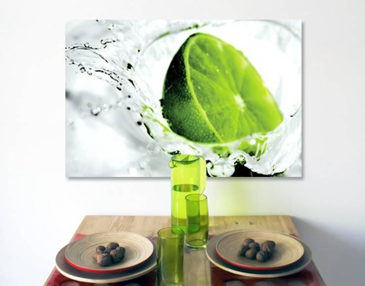 Bilderwelten Leinwandbild Limette: modern  von Bilderwelten,Modern