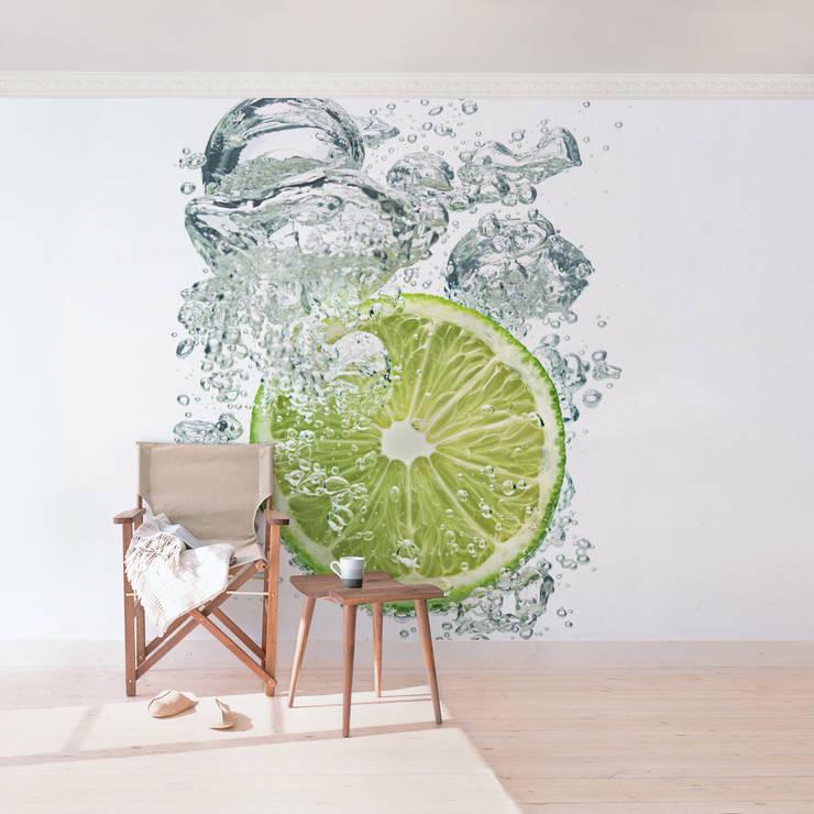 tapete in der k che von modern bis vintage. Black Bedroom Furniture Sets. Home Design Ideas