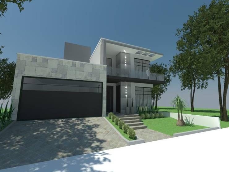 Fachada: Casas  por Atelier de Arquitetura Arquitetas Bianca e Bárbara Lehmkuhl,Moderno