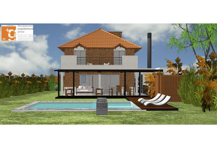 Remodelación y ampliación Casa LR: Piletas de estilo  por Development Architectural group