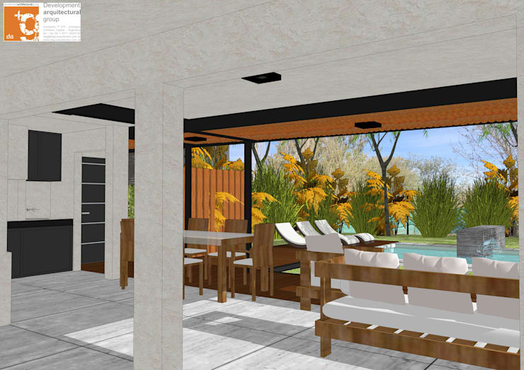 Remodelación y ampliación Casa LR: Livings de estilo  por Development Architectural group