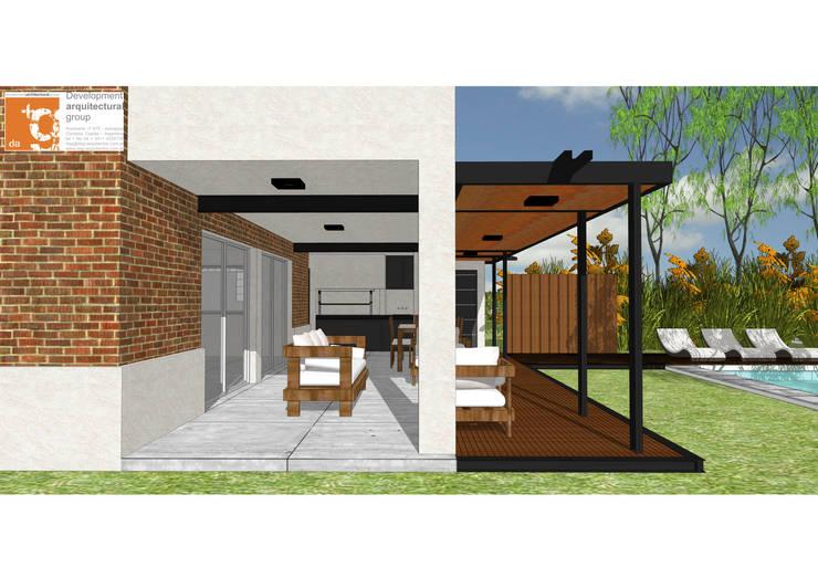 Remodelación y ampliación Casa LR: Jardines de estilo  por Development Architectural group