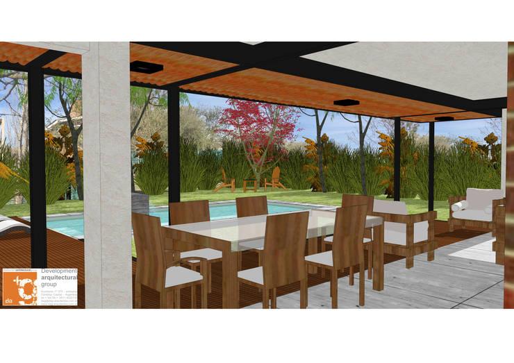 Remodelación y ampliación Casa LR: Comedores de estilo  por Development Architectural group