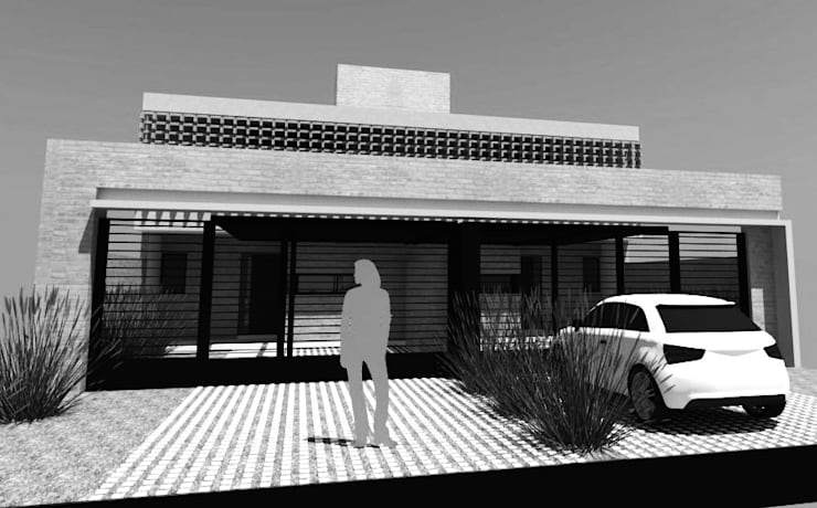 Duplex CPG Lomas del Chateau: Casas de estilo  por Development Architectural group