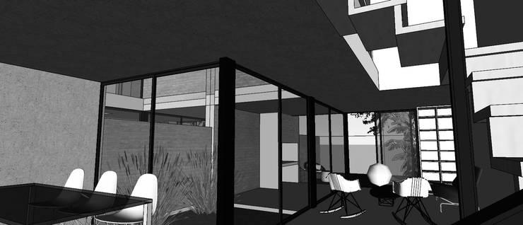 Duplex CPG Lomas del Chateau: Livings de estilo  por Development Architectural group