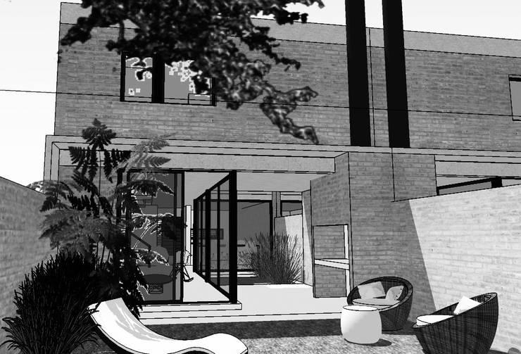 Duplex CPG Lomas del Chateau: Jardines de estilo  por Development Architectural group