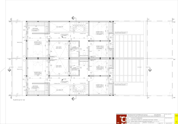 Duplex CPG Lomas del Chateau:  de estilo  por Development Architectural group