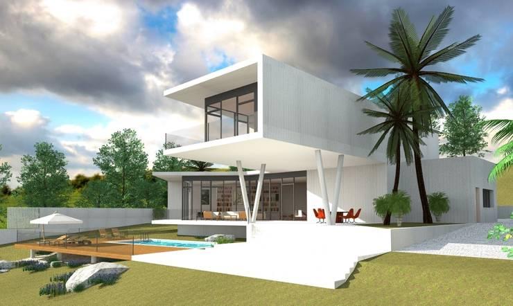 Casas de estilo  por GILMARQUEZ ARQUITECTOS