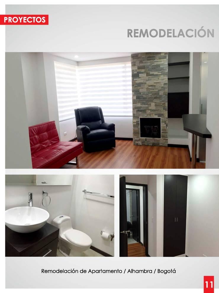 Remodelación de Apartamento / Alhambra / Bogotá : Salas multimedia de estilo  por Artika arquitectura y diseño S.A.S
