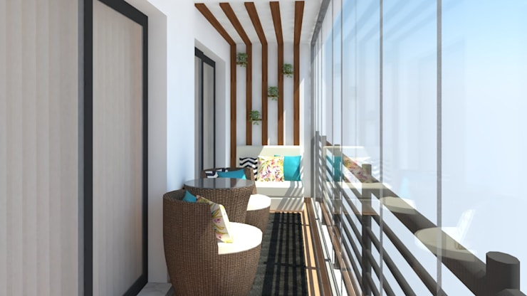 بلكونة أو شرفة تنفيذ Ana Andrade - Design de Interiores