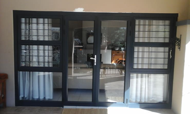 patio door - after:   by ALUWOOD WINDOWS AND DOORS