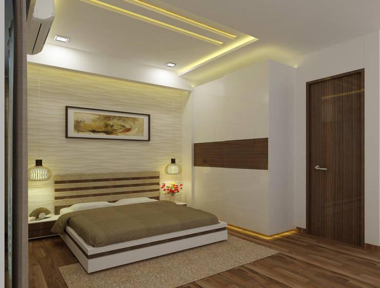 Guest Bedroom:  Bedroom by A Design Studio