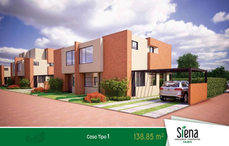 Siena Campestre Cajicá: Espacios comerciales de estilo  por Constructora Inlasa S.A.S