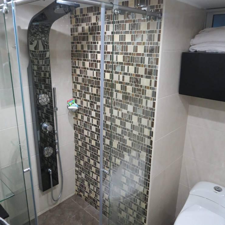 Remodelacion Apto Tibana: Baños de estilo  por Remodelaciones y Construcciones Meraki , Moderno Azulejos