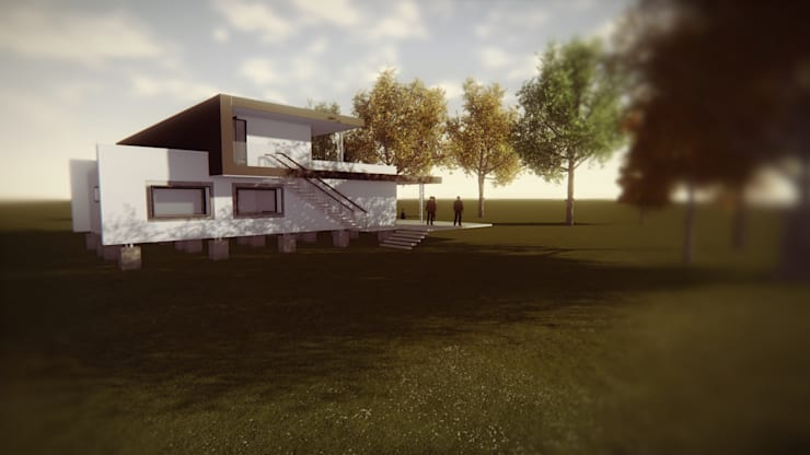 DISEÑO DE CASA CON EFICIENCIA ENERGÉTICA: Casas de estilo  por Dušan Marinković - Arquitectura - Santiago