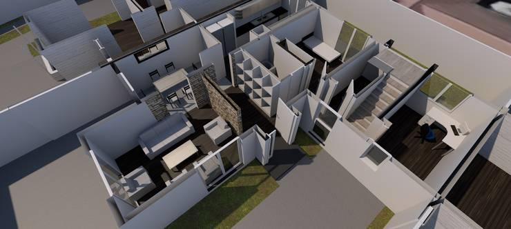 DISEÑO DE CASA EN LAS CONDES: Casas de estilo  por Dušan Marinković - Arquitectura - Santiago