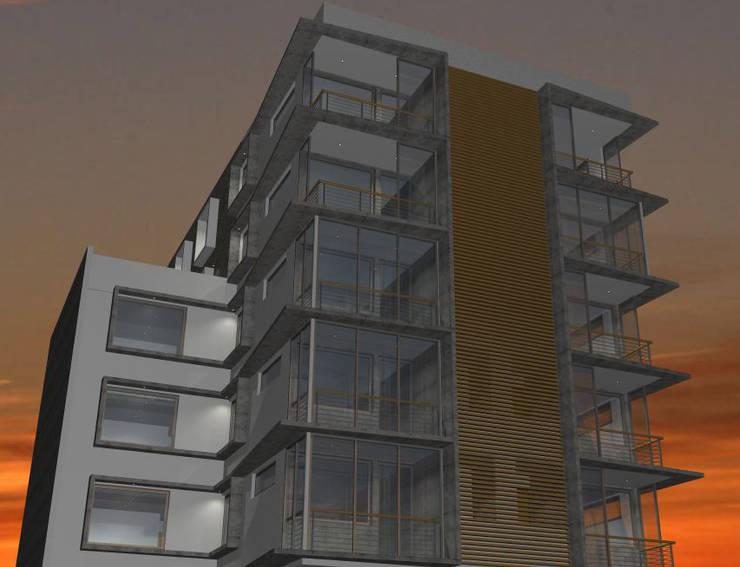 DISEÑO DE EDIFICIO EN COYHAIQUE: Casas de estilo  por Dušan Marinković - Arquitectura - Santiago