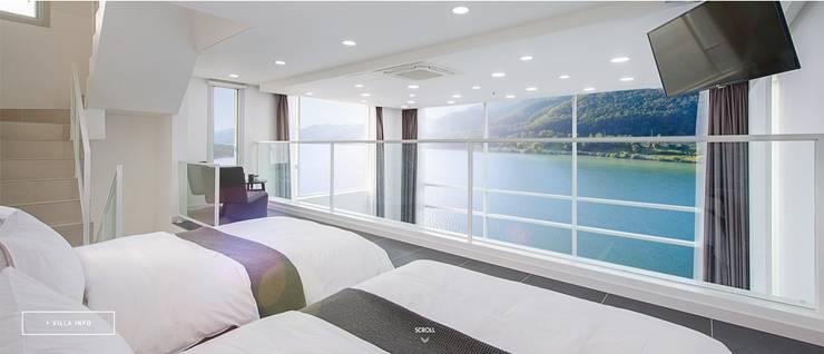 청평 풀 빌라 리버웨이브 : 모린홈의  침실