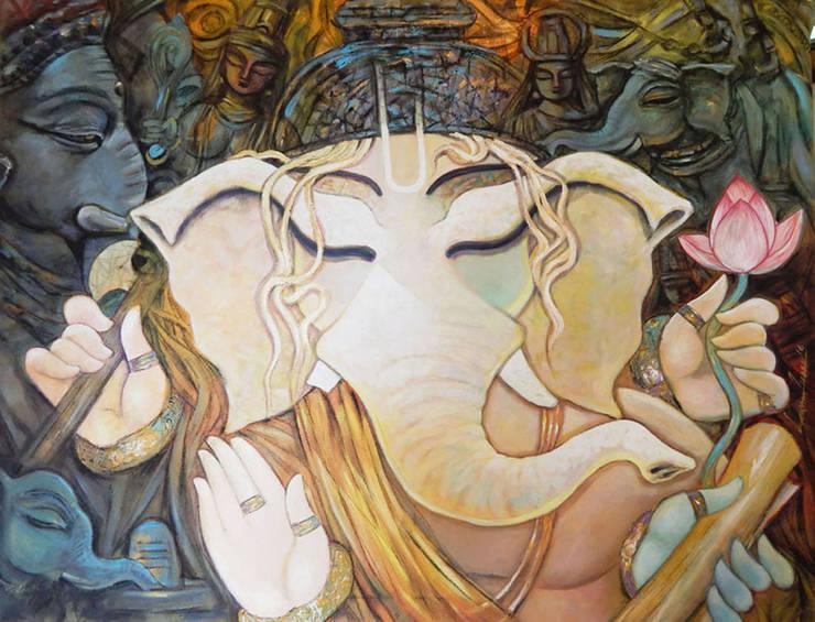 Bhuwanpati: asian  by Indian Art Ideas,Asian