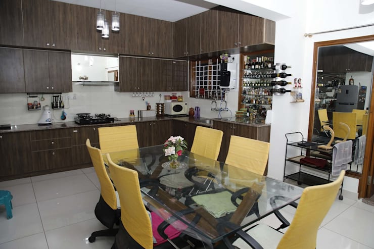 Dining Table Designs Online In Bangalore: asian Dining room by Scale Inch Pvt. Ltd.