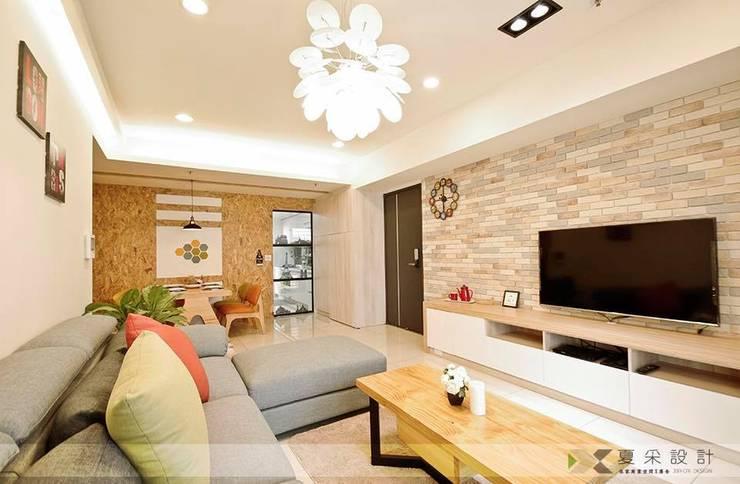 賴著不走北歐混搭風:  客廳 by 寬森空間設計