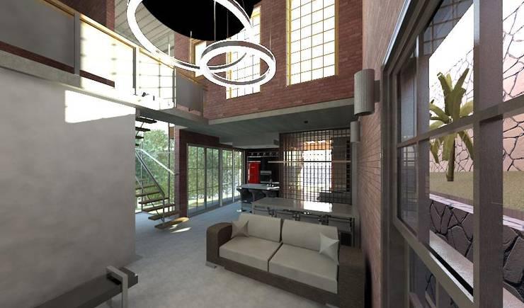 Living room by Arquitetura Ecológica, Modern Bricks