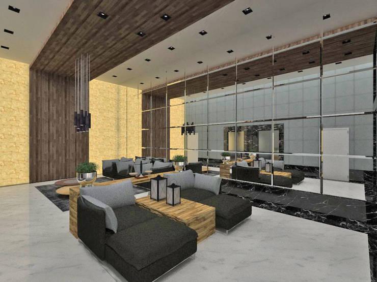 Pasillos, vestíbulos y escaleras modernos de Studio Diego Duracenski Interiores Moderno Madera maciza Multicolor