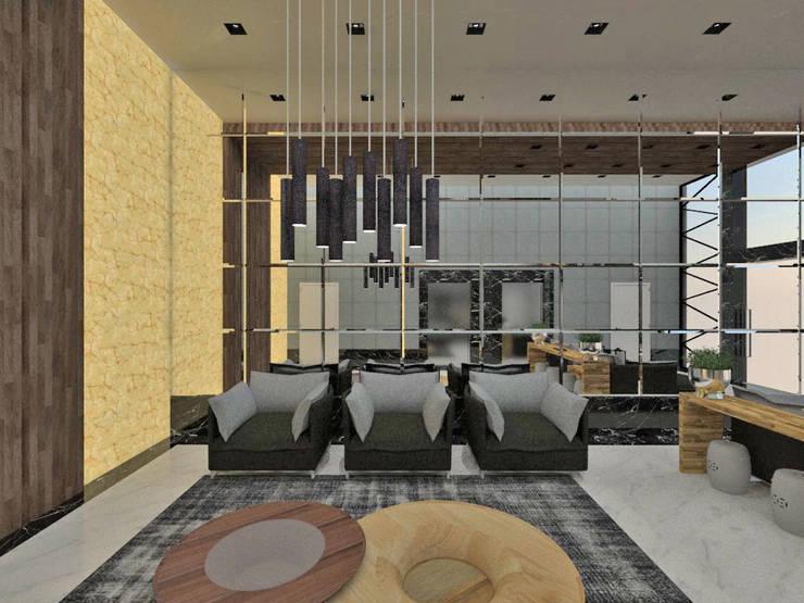 Pasillos, vestíbulos y escaleras modernos de Studio Diego Duracenski Interiores Moderno Mármol
