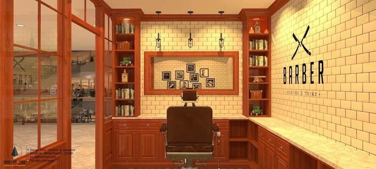 Barbers Design:  ตกแต่งภายใน by DesignOne Bkk