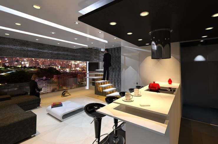 Vista : Cocinas de estilo  por ME7 Estudio de Arquitectura
