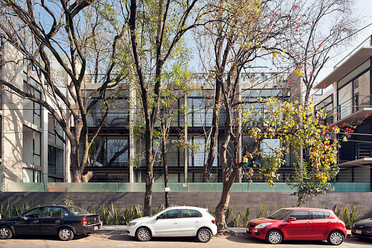 CBZ 30 Condesa- Ciudad de México:  Houses by Hb/arq
