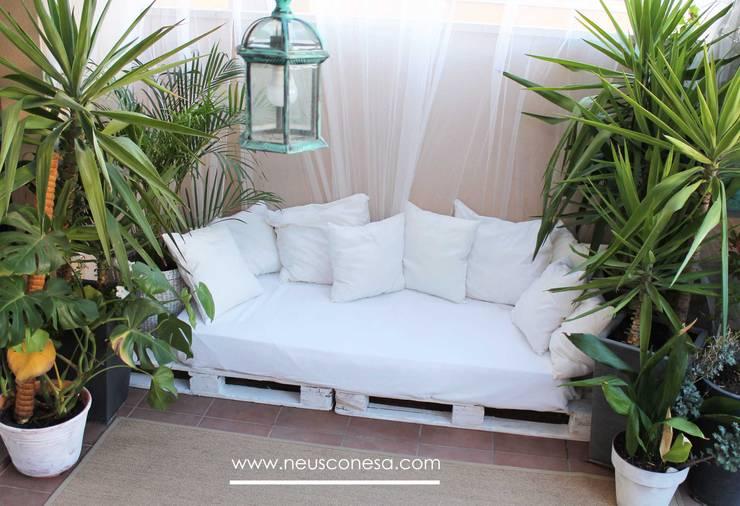 Projekty,  Taras zaprojektowane przez Neus Conesa Diseño de Interiores