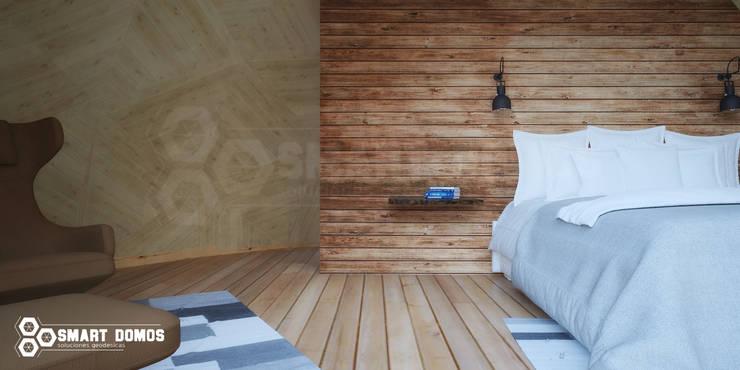 domo glamping 38m2: Recámaras de estilo  por smart domos