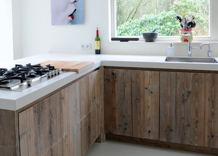 Nhà bếp theo RestyleXL, Bắc Âu Gỗ Wood effect