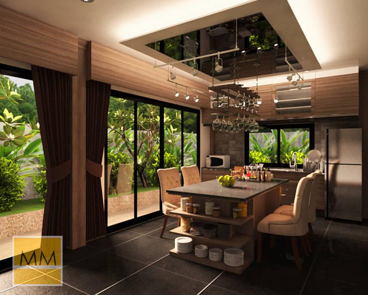 งาน renovate ห้องครัว:  ตกแต่งภายใน by MM design & development