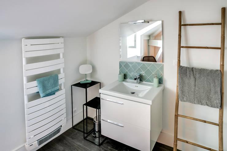 Projekty,  Łazienka zaprojektowane przez Audrey Boey