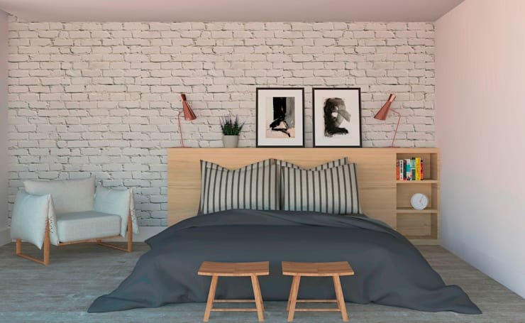 scandinavian Bedroom by Patrícia Nobre Interiores
