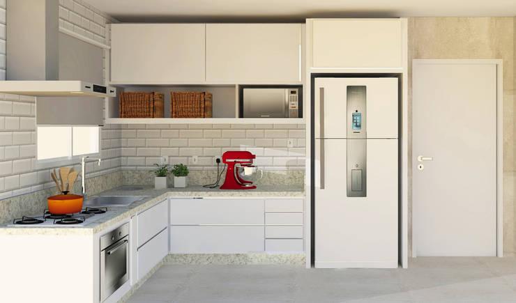 Projekty,  Kuchnia zaprojektowane przez Patrícia Nobre Interiores