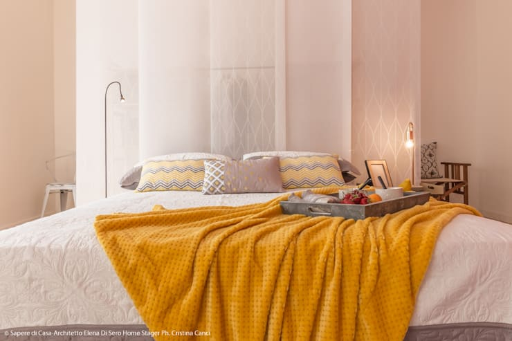 Спальная комната  в . Автор – Sapere di Casa - Architetto Elena Di Sero Home Stager
