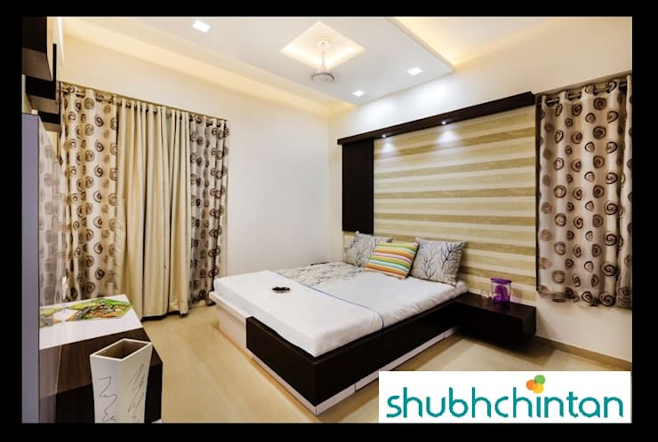 2bhk flat : modern Bedroom by shubhchintan